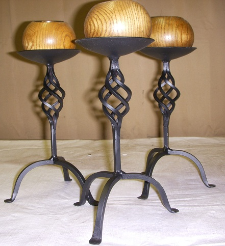 Wrought Iron Candle Holders Set