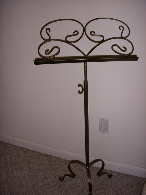wrought iron music stand